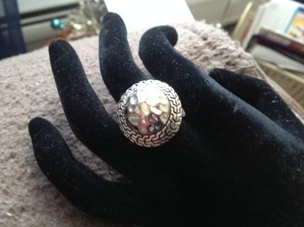 Silver Tone Stretch Ring