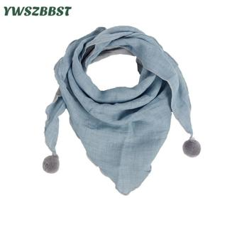 New Spring Cotton Baby Triangle Scarf Pure Color Autumn Winter Infant Girls Bibs Scarf Baby Boys S
