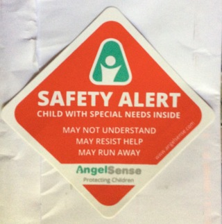 Safety Alert Child With Special Needs Sticker