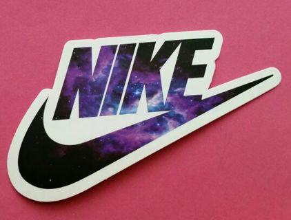 Matte finish ☆nike cosmic swoosh☆ logo sticker decal • shipping fastfree