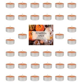Pumpkin Spice Tealight Candles (Pack of 36)