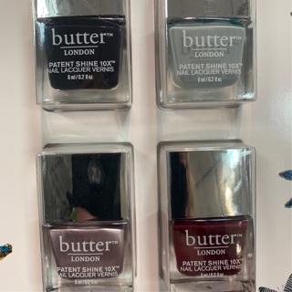 Butter Nail Polish 4 bottles New Free Shipping