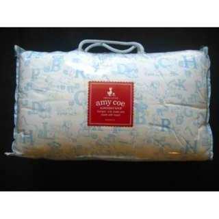 Free Amy Coe Alphabet Soup Blue 3 Piece Crib Bedding Set