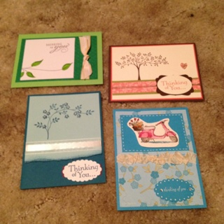 4 Thinking Of You Cards