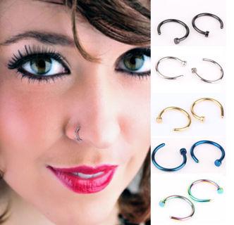 1pcs  Stainless Steel Nose Open Hoop Ring Earring Body Piercing Studs 16g