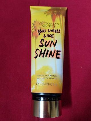 "Victoria's Secret ""you smell like sunshine"" fragrance lotion"