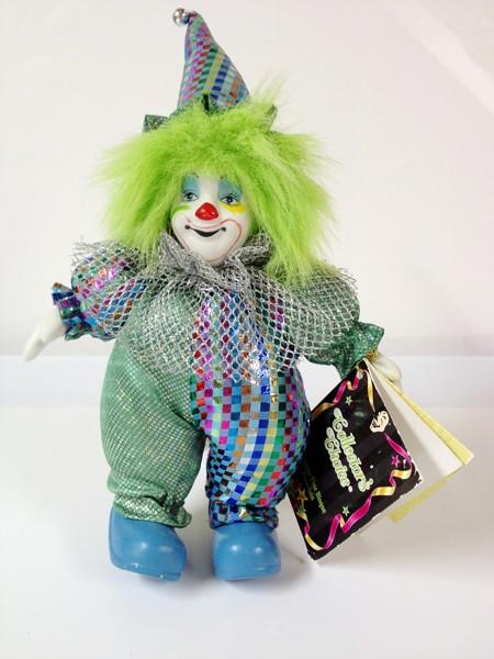 Free: COLLECTOR'S CHOICE GENUINE FINE BISQUE PORCELAIN CLOWN - Dolls