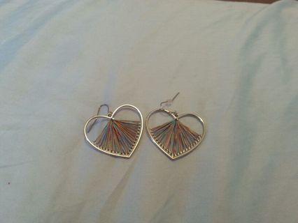Heart shaped earrings!
