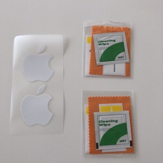 MAC Apple Stickers NEW + Screen Care Kit Set of 2 • Free Shipping