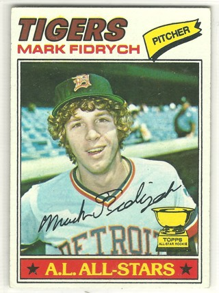 Mark The Bird Fidrych Rookie Card 1977 Topps #265 Detroit Tigers no creases
