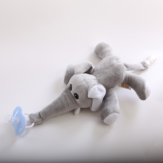 Baby Pacifier Removable With Lid Toy Pacifiers Dummy Feeding Elephant Silicone Nipple For Newborns
