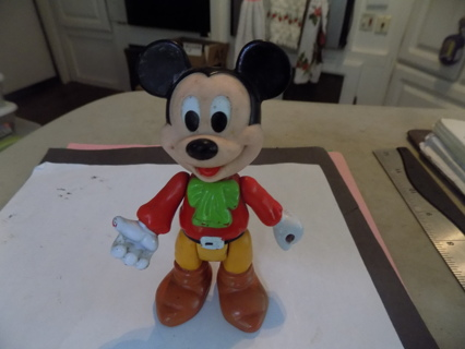 4 1/2 tall hard rubber poseable Mickey Mouse