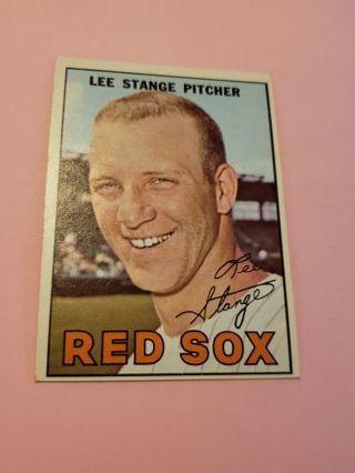 1967 Lee Stange Boston red Sox vintage baseball card