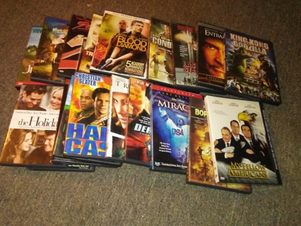 Lot of 20 Good DVDs - Action, Drama, Suspense, Comedy - Winner Takes All