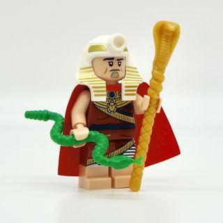 New King Tut Minifigure Building Toy Custom Lego