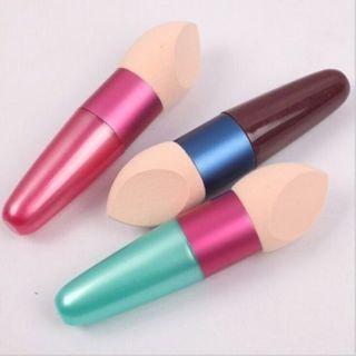 2Pcs Cosmetic Brushes Liquid Cream Foundation Concealer Sponge Lollipop Brush Women