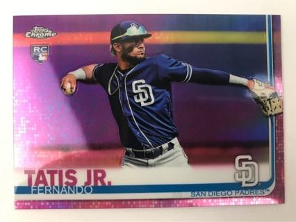 ✯2019 Topps Chrome Fernando Tatis Jr. Pink Refractor #203 RC San Diego Padres ~ FREE SHIPPING✯