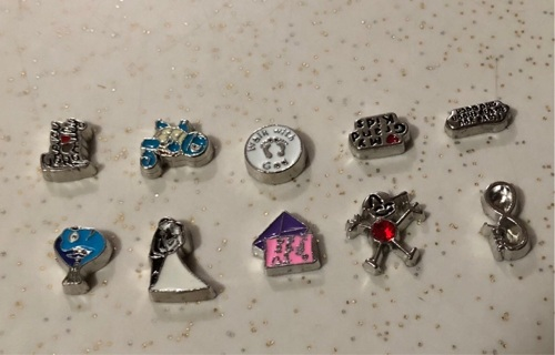 Memory Locket Charms 10 Total