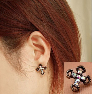 Beautiful Pair Of Cross Earrings