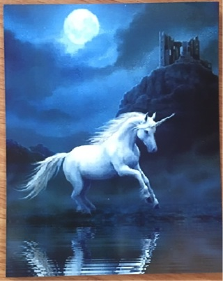 "UNICORN FULL MOON - 3 x 4"" MAGNET"