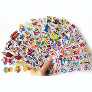8pcs/lot cartoon patterns Fashion Brand Kids Toys Cartoon 3D Stickers Children girls boys PVC Stic