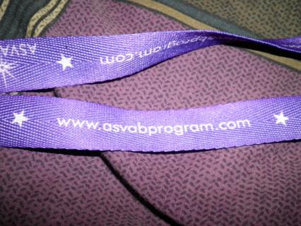 Purple  Lanyard (asvab program)