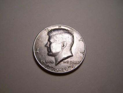 AU-BU 1776-1976 Bicentennial Kennedy Half Dollar JFK