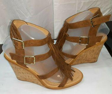 Womens~ Maryjane Wedge Heel Shoes 7.5 Boh0