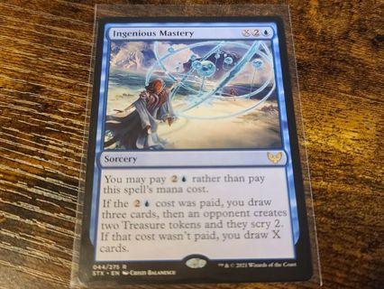 Magic the gathering mtg Ingenious Mastery rare card Strixhaven