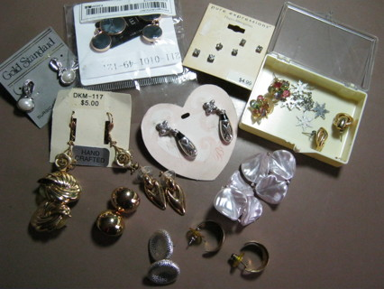 Mixed Lot Vintage Post & Wire Earrings