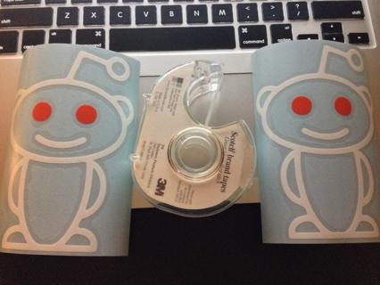2 reddit com alien snoo stickers decals