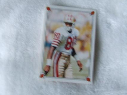 1987 HOFer Jerry Rice San Francisco 49ers Topps Sticker #61