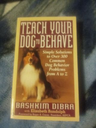 New Teach You Dog To Behave Book