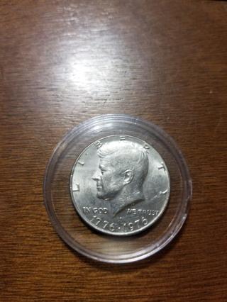 Bicentennial Kennedy Half Dollar in Capsule