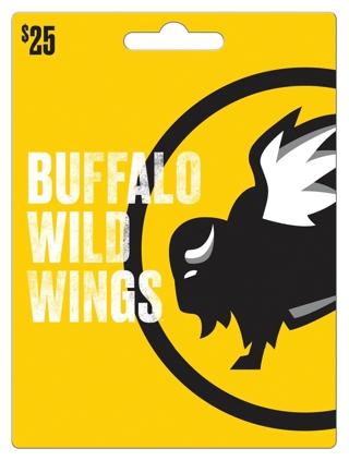 $25 Buffalo Wild Wings Gift Card