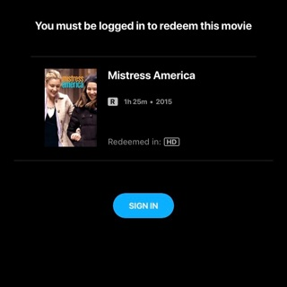Mistress America Digital HD MA VUDU code