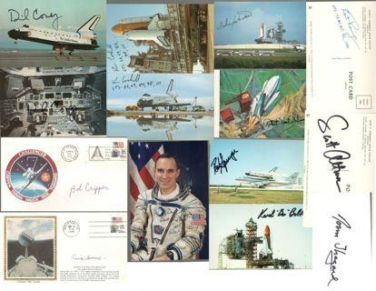 38 NASA  Astronaut Autographs - Vintage Postcard Collection