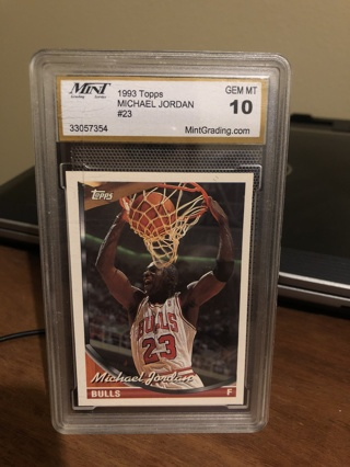 1993 topps Michael Jordan  gem mint 10