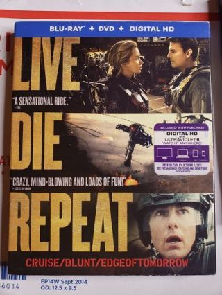 Live, Die, repeat:Edge of Tomorrow Blue-ray movie