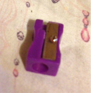 Purple pencil sharpener