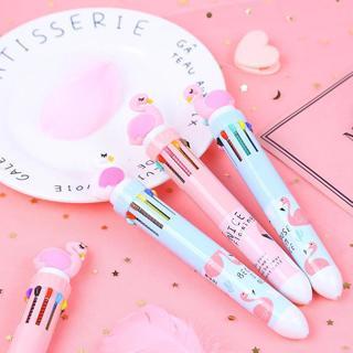 Flamingo 10 Colors Chunky Ballpoint Pen School Office Supply Gift Stationery Papelaria Escolar