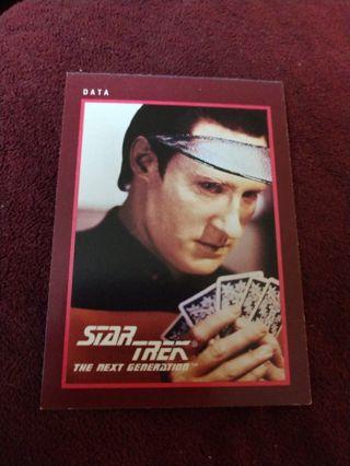 Star trek card - Data