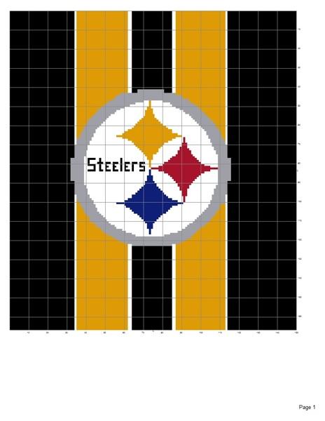 Crochet Pattern Steelers Afghan : Free: Pittsburgh Steelers afghan pattern - Crochet ...