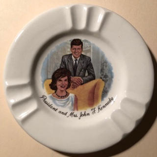 President John F Kennedy vintage ashtray