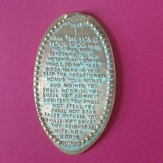 I AM THE LORD YOUR GOD Ten Commandments All Seeing EYE Elongated Pressed Penny - Free Shipping