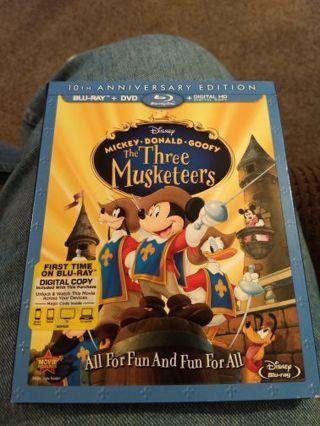 Disney's The Three Musketeers HD Digital Movie Code, redeems on Google Play.