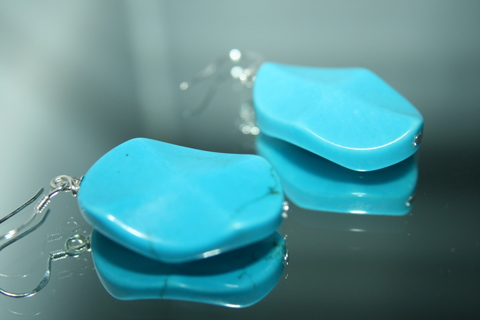 Sweet Sleeping Beauty turquoise earrings STERLING SILVER STAMP /3 pairs left !**shipping fees apply*