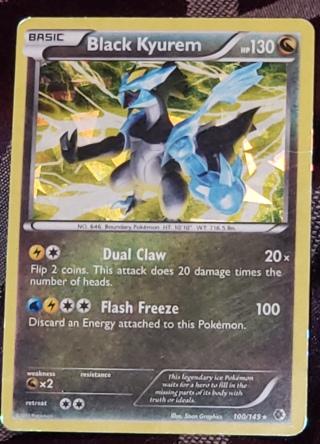 ⚡ Pokemon Card Black Kyurem 100/149 ⚡ 130 HP Holo Rare Boundaries Crossed