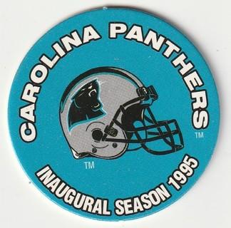 1995 Officially Licensed NFL POG: Carolina Panther