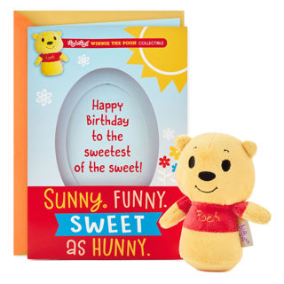 itty bittys Winnie the Pooh Birthday Card With Stuffed Animal